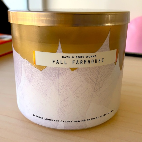 NEW Fall Farmhouse 3-Wick Candle Bath & Body Works